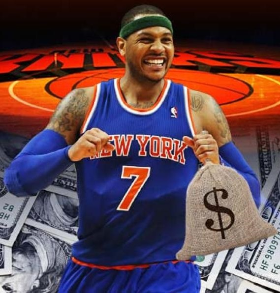 Carmelo Anthony New York Knicks money NBA