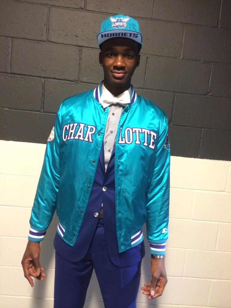 Charlotte Hornets Noah Vonleh Starter Jacket retro 2014-15 nba indiana hoosiers