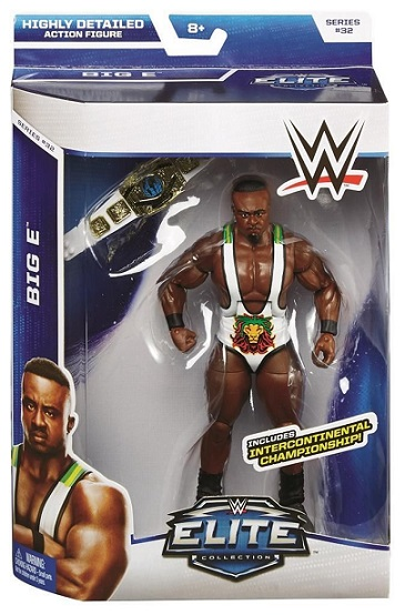 Big E Langston WWE Elite Series 32 Mattel Intercontinental Championship