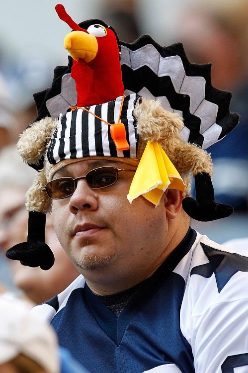 Dallas Cowboys fan Thanksgiving turkey hat NFL funny 2014