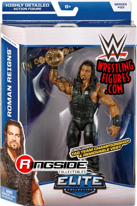 Roman Reigns WWE Elite 33 tag team title wrestling toy