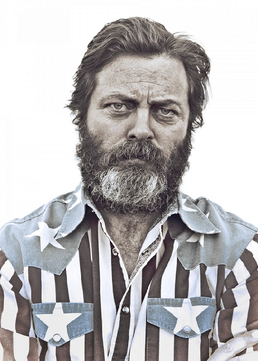 Nick Offerman Funny Parks and Recreation Ron Swanson hipster art
