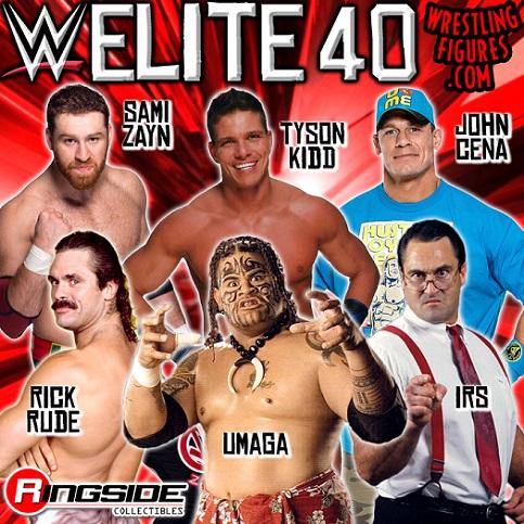 wwe elite 40 Umage IRS Rick Rude John Cena Tyson Kidd Sami Zayn mattel