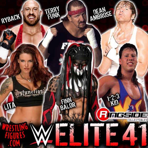 Finn Balor Terry Funk 123 Kid Ryback Dean Ambrose Lita WWE Elite series 41 mattel toys
