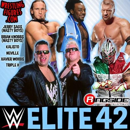 elite 42 wwe toys mattel neville kalisto Nasty boys Xavier Woods Triple H