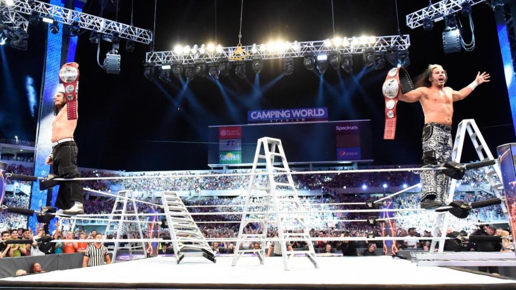 Matt Hardy Jeff Hardy the Hardy Boyz Wrestlemania 33 WWE