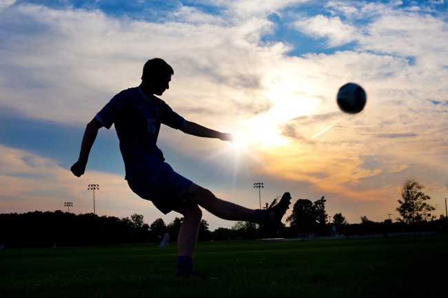 Ball Kicking Soccer Sunset Sport Player Football